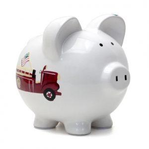 Firetruck Piggy Bank
