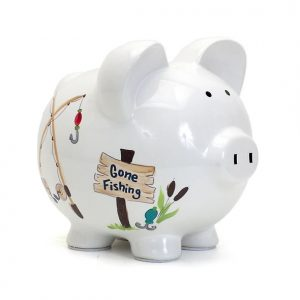 Gone Fishing Piggy Bank